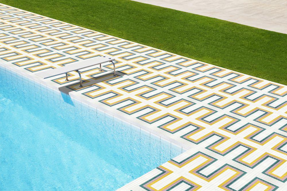 Mozaika HOVLEY z kolekce Welcome to Palm Springs španělského výrobce Hisbalit